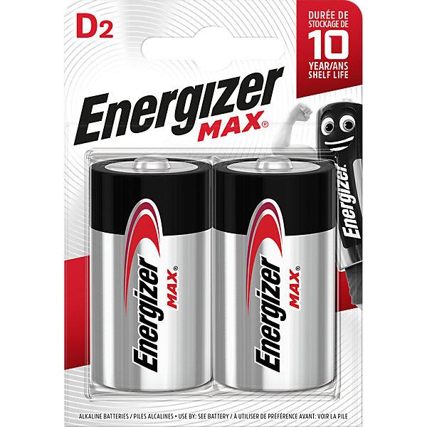Energizer Батарейки алкалиновые Max, тип D/LR20, 1,5 V, 2 шт