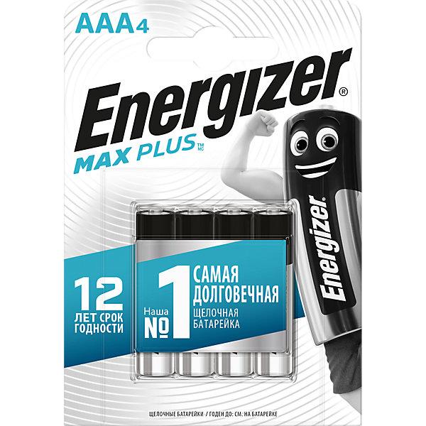 Energizer Батарейки алкалиновые Max Plus, тип ААА, 4 шт