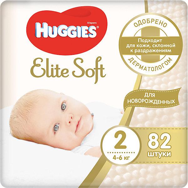 HUGGIES Подгузники Huggies Elite Soft 4-6 кг, 82 штуки