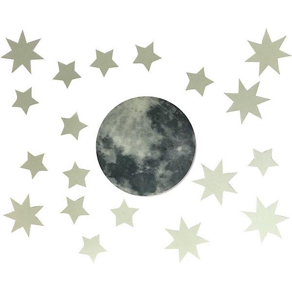 Люмастик Светящиеся наклейки Луна и звёзды