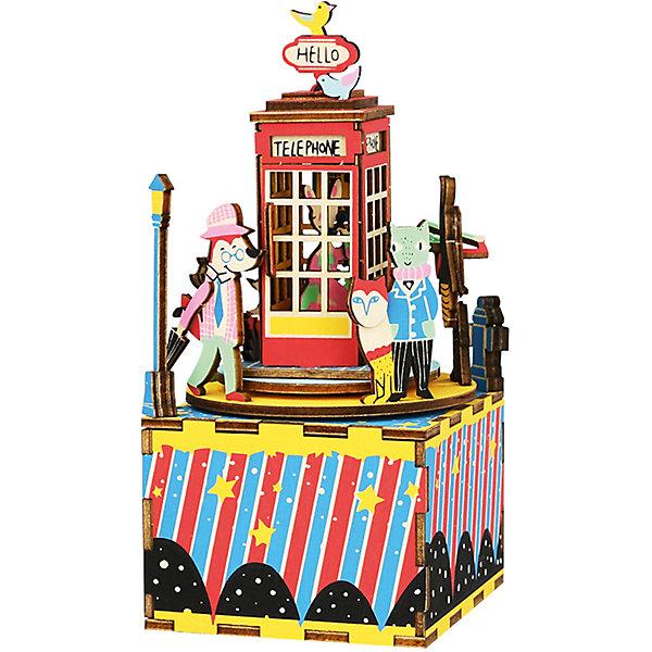 ТМ Цветной Сборная модель-румбокс Телефонная будка