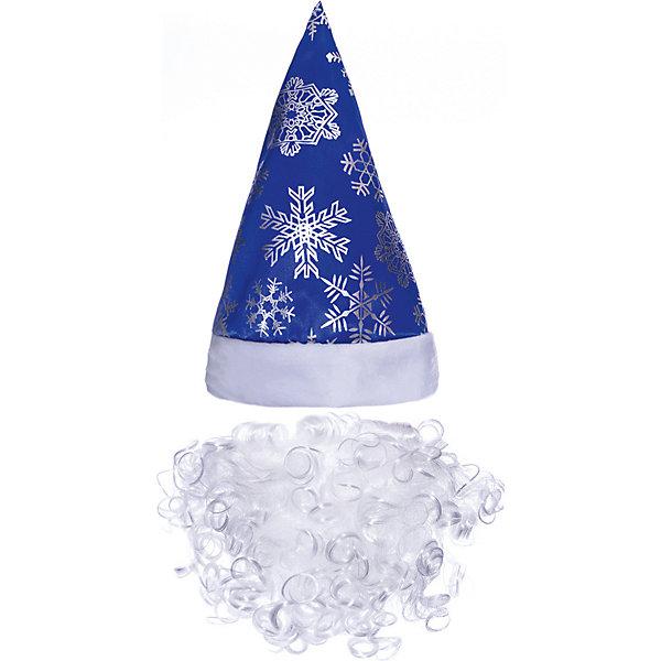 Jeanees Колпак с бородой Новогодний, синий