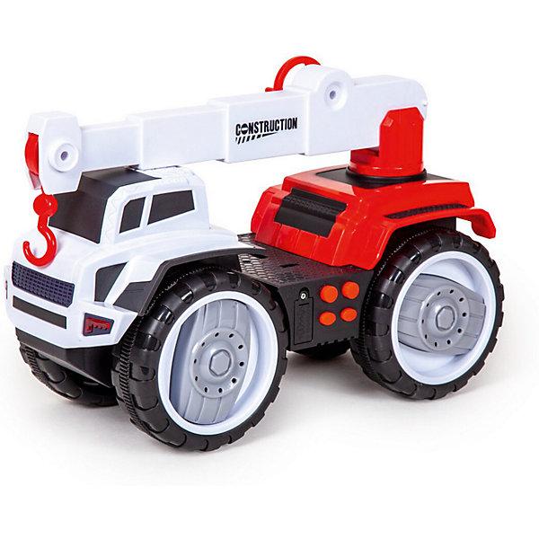 Купить Фрикционная машинка Handers Большие колёса Автокран, 32 см, Китай, Мужской