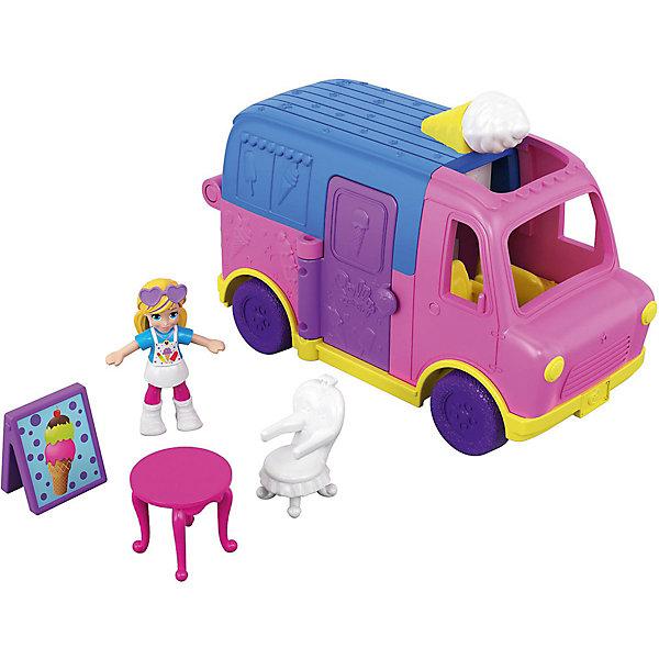 Mattel Игровой набор Polly Pocket Полливиль Грузовик с мороженым