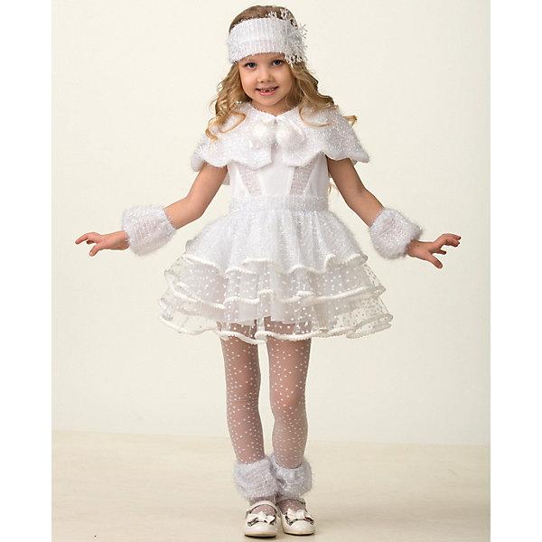 Jeanees Карнавальный костюм Jeanees Снежинка Снеговичка карнавальный костюм jeanees цыплёнок пончик цвет желтый размер 28