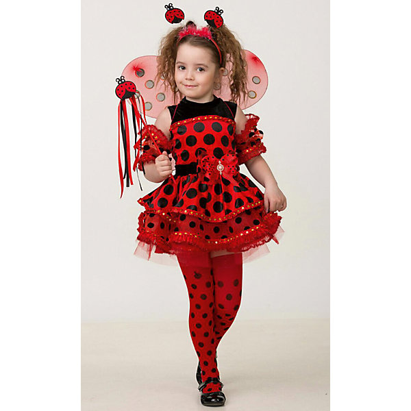 Jeanees Карнавальный костюм Jeanees Божья Коровка карнавальный костюм jeanees цыплёнок пончик цвет желтый размер 28