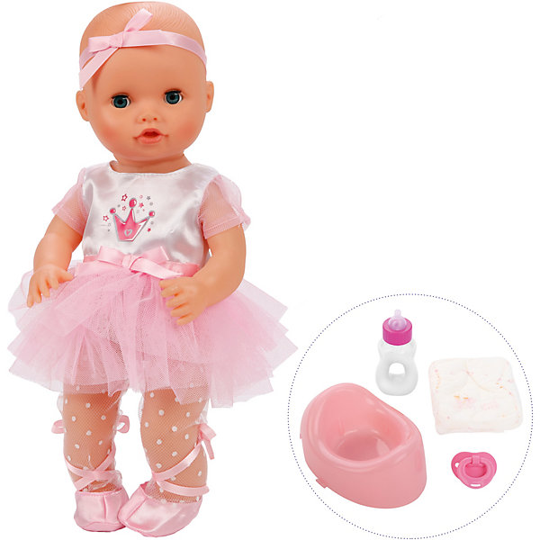 Купить Кукла-пупс Mary Poppins Корона Уроки заботы, Балерина, 36 см, Китай, розовый, Женский