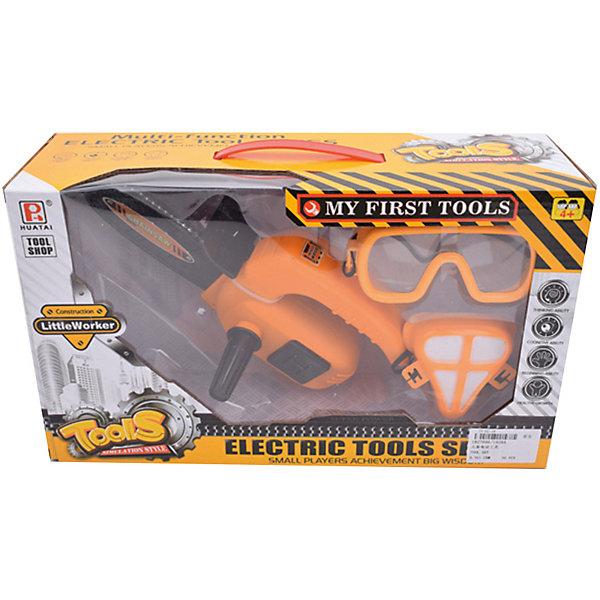 Купить Набор инструментов Наша Игрушка Бензопила, очки, маска, Китай, оранжевый, Мужской