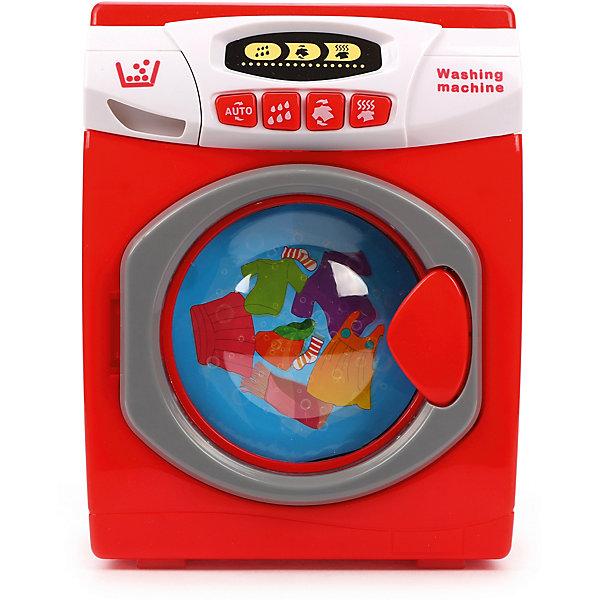 Купить Стиральная машинка Наша Игрушка, со светом и звуком, Китай, красный, Женский