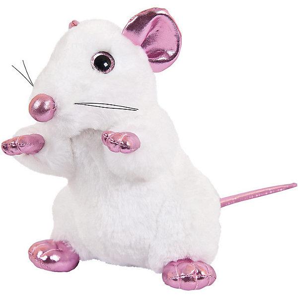 ABtoys Мягка игрушка Abtoys Крыса белая с розовыми лапками 19 см