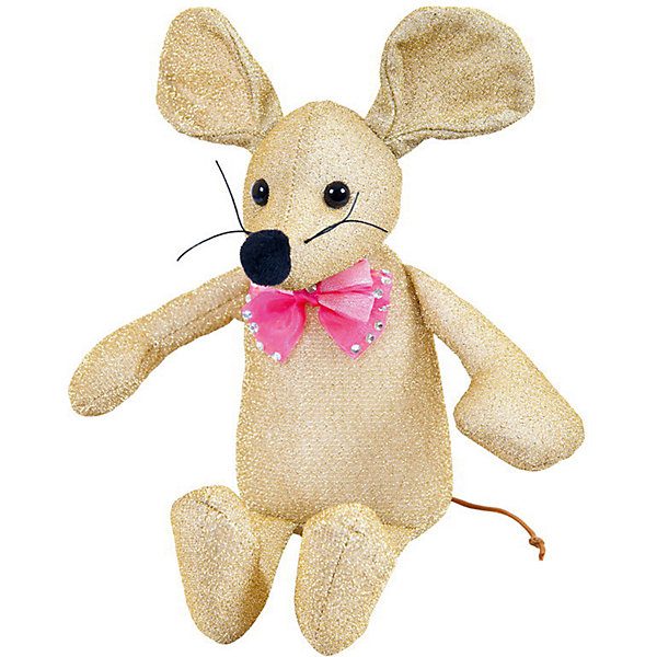 ABtoys Мягкая игрушка Abtoys Мышка блестящая 16 см золотая