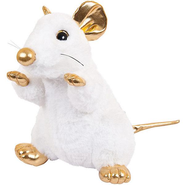 цена ABtoys Мягкая игрушка Abtoys Крыса белая с золотыми лапками 25 см онлайн в 2017 году