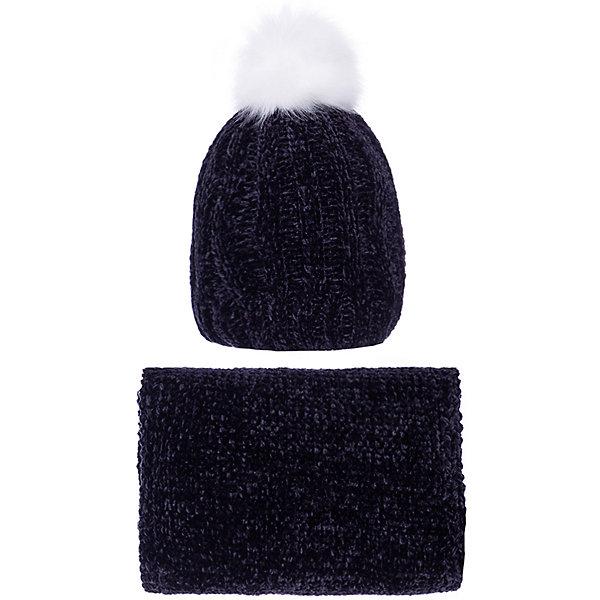 Купить Комплект Trybeyond: шапка и снуд, Китай, черный, 56, 54, Женский