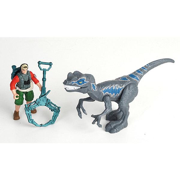 Chap Mei Игровой набор Мегалозавр и охотник