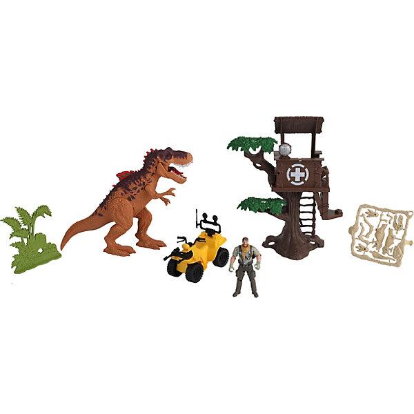 Chap Mei Игровой набор Chap Mei Охотник на динозавра игровой набор chap mei динозавр ютараптор и охотник на вертолете стреляет 520002 2