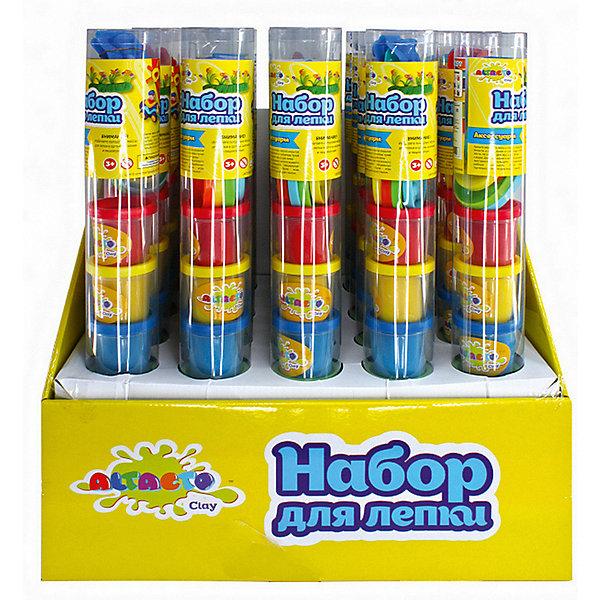 ALTACTO Набор для лепки Altacto Clay, 6 цветов, аксессуары масса для лепки abtoys радуга 5 цветов 18 предметов 118929