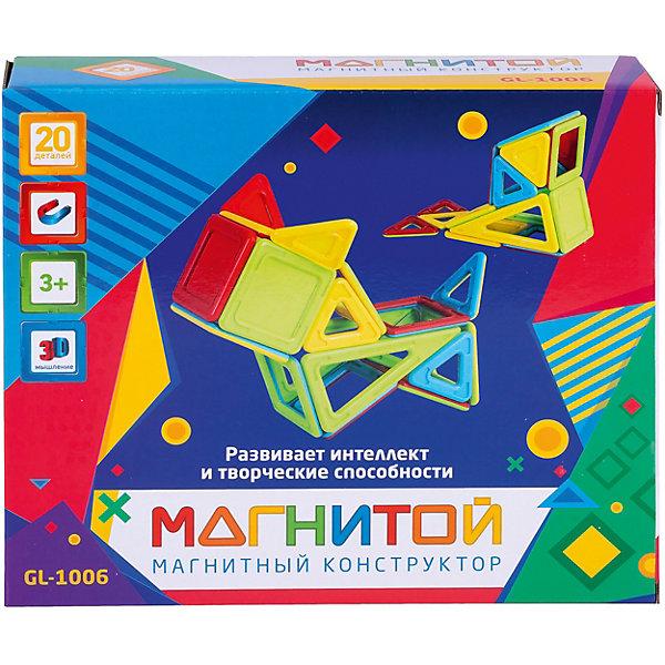 Магнитой Магнитный конструктор Магнитой, 20 деталей (непрозрачный материал)
