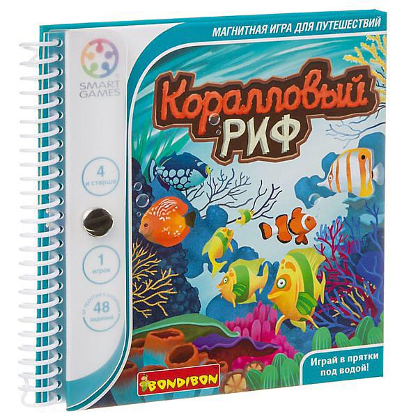 Bondibon Магнитная игра SmartGames для путешествий Коралловый риф
