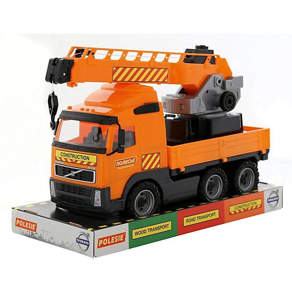 Полесье Автомобиль-кран с поворотной платформой Полесье Volvo автомобиль трейлер полесье mammoet volvo с трактором погрузчиком в коробке 56825