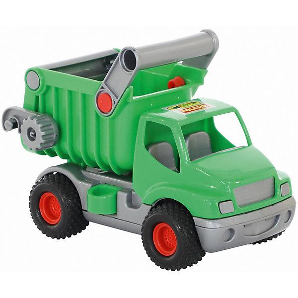 Фото - Полесье Самосвал Полесье КонсТрак, зеленый полесье набор игрушек для песочницы 468 цвет в ассортименте