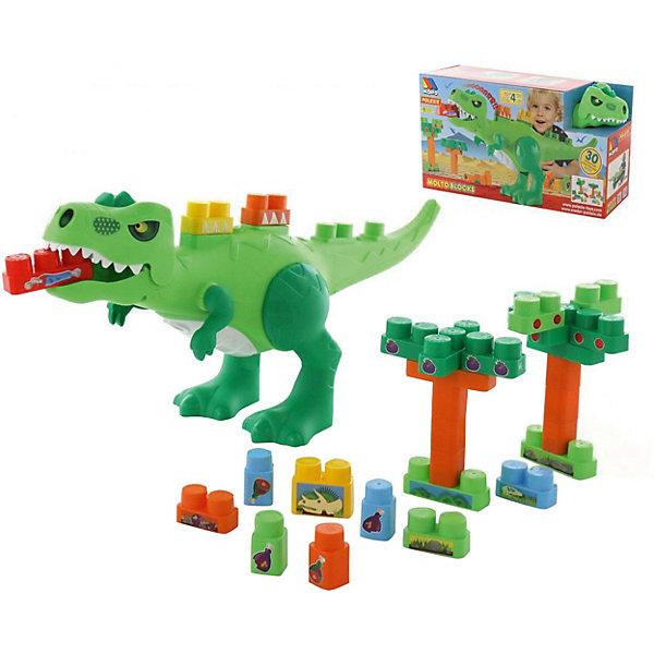 """Игровой набор с конструктором Полесье """"Динозавр"""", 30 элементов"""