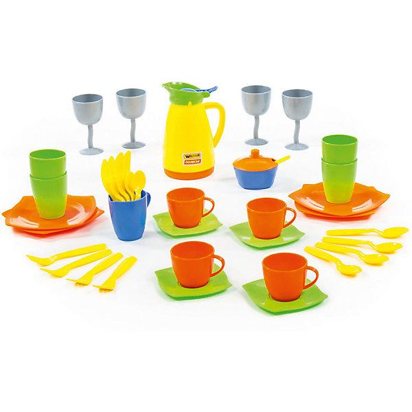 Полесье Набор детской посуды Полесье Праздничный полесье набор игрушечной посуды алиса на 4 персоны 58980 цвет в ассортименте