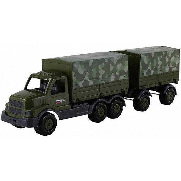 Автомобиль бортовой тентовый военный с прицепом Полесье