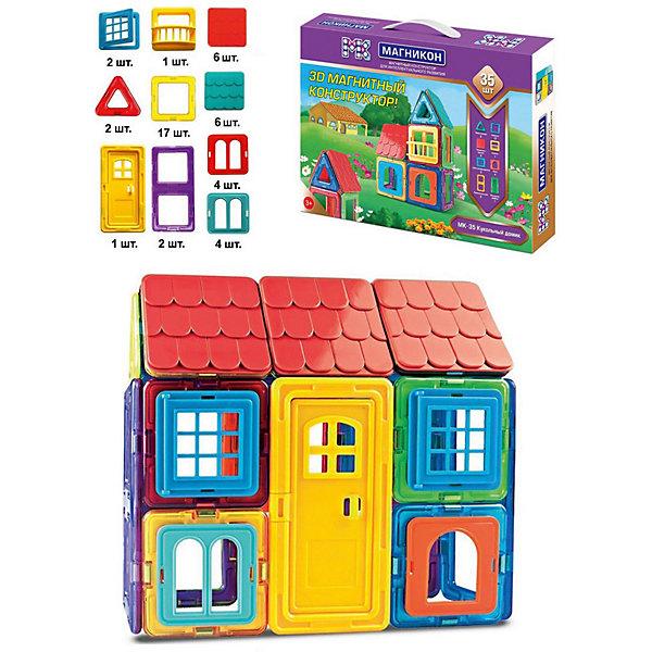 Купить Магнитный конструктор Магникон Кукольный домик , 35 деталей, МАГНИКОН, Китай, разноцветный, Унисекс