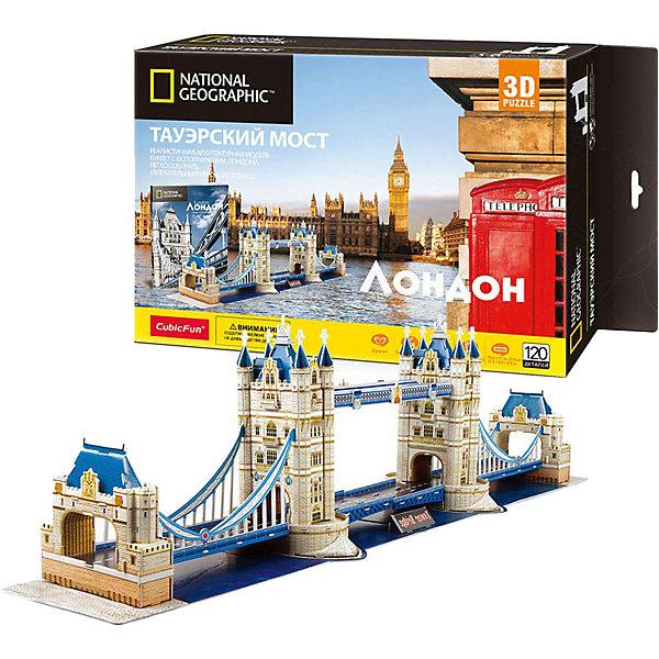 CubicFun 3D Пазл CubicFun Тауэрский Мост (Великобритания), 120 деталей 3d пазл с подсветкой рождественский коттедж 3 cubicfun