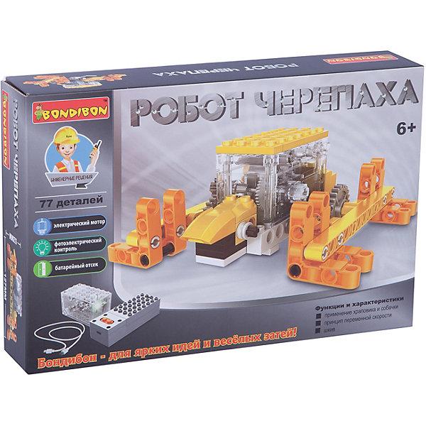 Bondibon Конструктор Bondibon Робот-черепаха, 77 деталей bondibon робот и самолет 2 в 1 111 деталей разноцветный