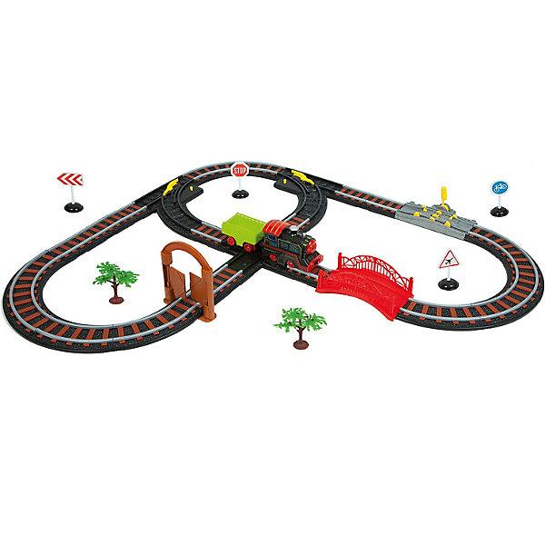 Bondibon Железная дорога Восточный экспресс с одним паровозом и вагоном, воротами, длина пути 392 см