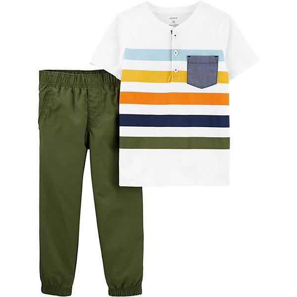 Фото - carter`s Комплект carter`s: футболка и брюки carter s комплект carter s футболка и юбка