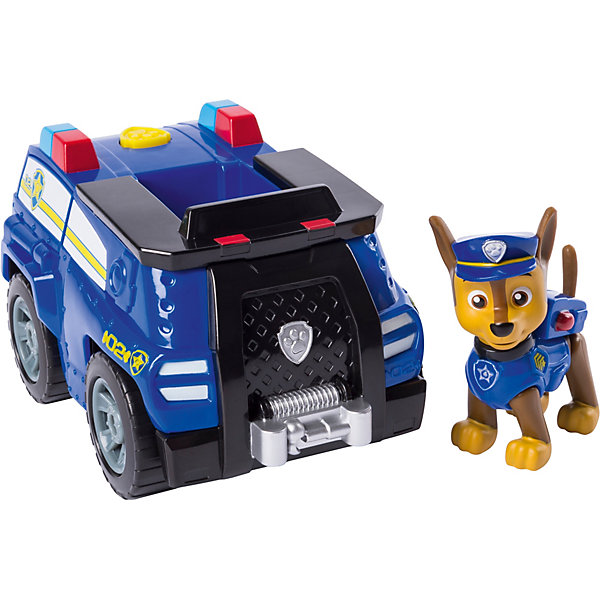 Spin Master Игровой набор Paw Patrol, Машинка с щенком Chase