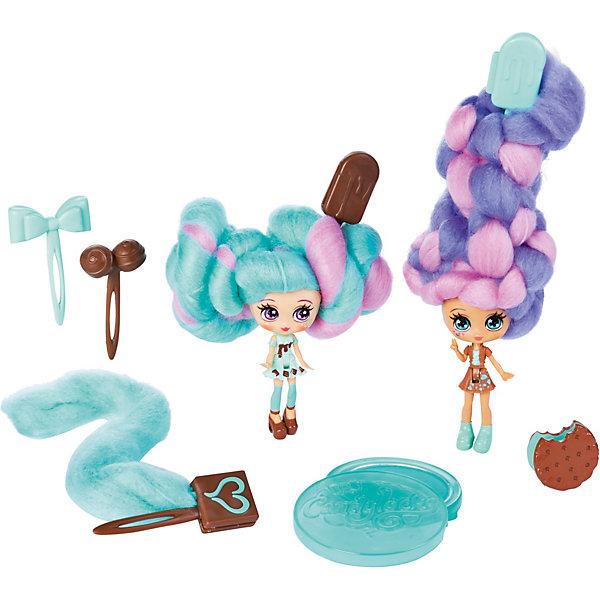 Spin Master Набор мини-кукол Candylocks Сахарная милашка Минт и Шоко, 8 см