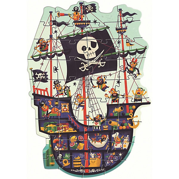 Купить Пазл Djeco Пиратский корабль , 36 деталей, Китай, Унисекс
