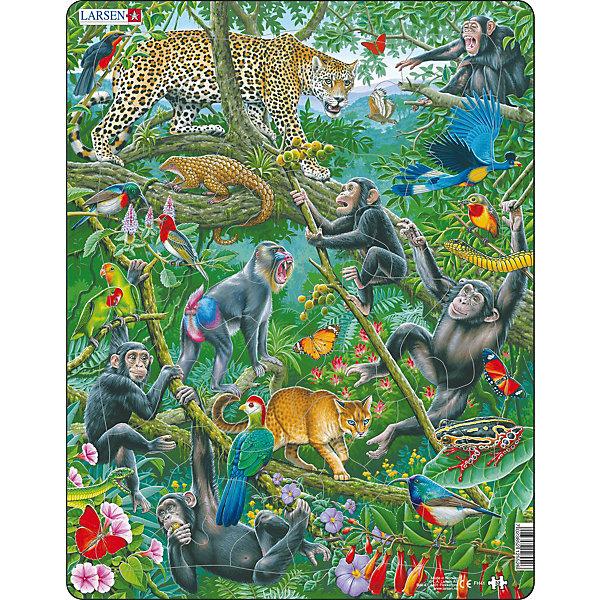 Larsen Пазл Larsen Животные Африки, 32 детали larsen пазл животные сафари
