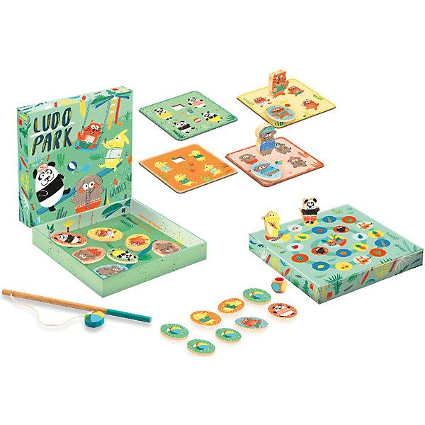 DJECO Набор настольных игр Djeco Людопарк: 4 в 1, магнитная рыбалка, лото, мемо, догонялка