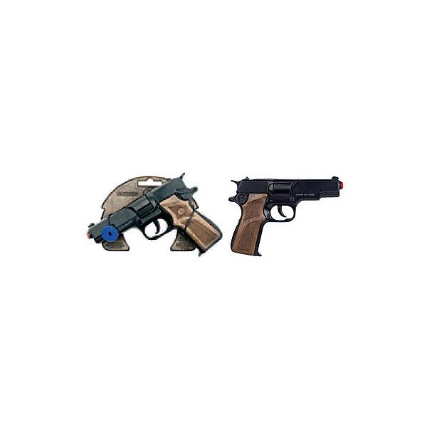 Gonher Полицейский пистолет на 8 пистонов, черный