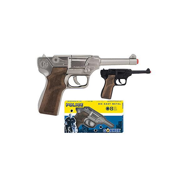 Gonher Пистолет Police 8 пистонов, черный