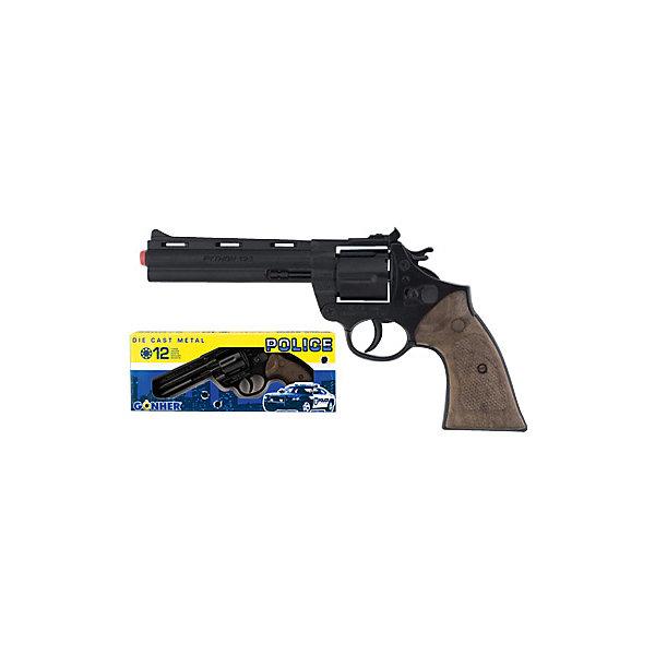 Gonher Револьвер Police 12 пистонов, черный