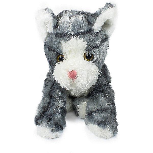 Купить Мягкая игрушка Teddykompaniet Котенок, черно-белый, 23 см, Китай, серый, Унисекс