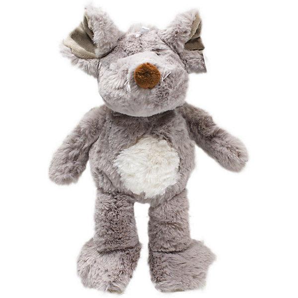 Купить Мягкая игрушка Teddykompaniet Мышь сидящая, 28 см, Китай, серый, Унисекс
