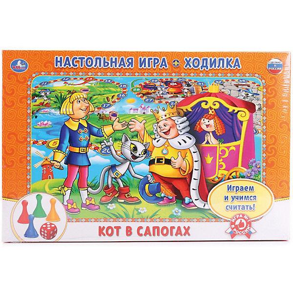 Умка Настольная игра-ходилка Кот в сапогах