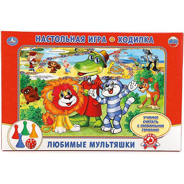 Умка Настольная игра-ходилка Любимые мультяшки