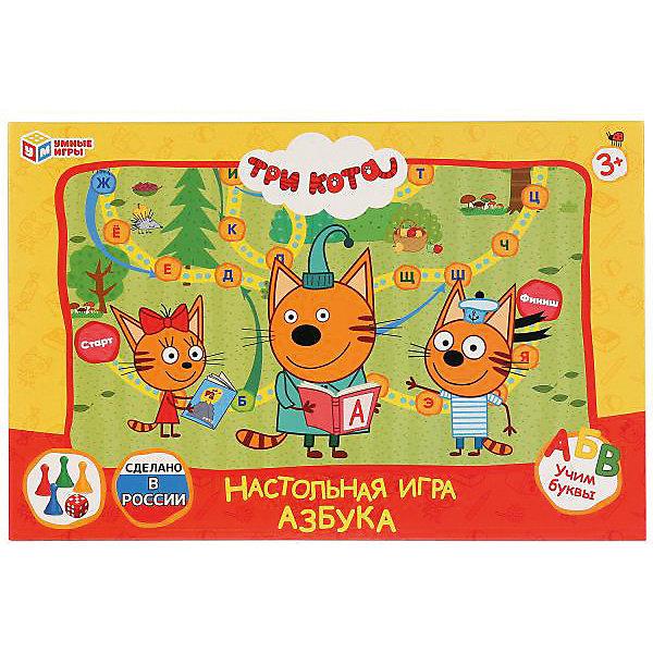 Умка Настольная игра-ходилка Умные игры Азбука, три кота настольная игра ходилка умка азбука тоботы