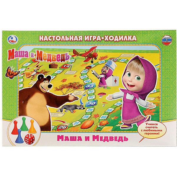 Умка Настольная игра-ходилка Умка Маша и Медведь цены онлайн