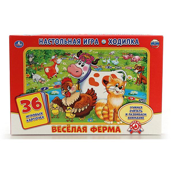 Умка Настольная игра-ходилка Умные игры веселая ферма