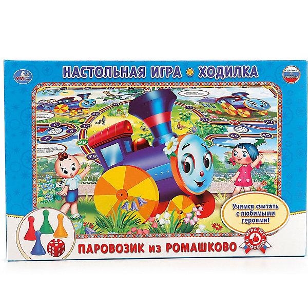 Умка Настольная игра-ходилка Паровозик из Ромашково