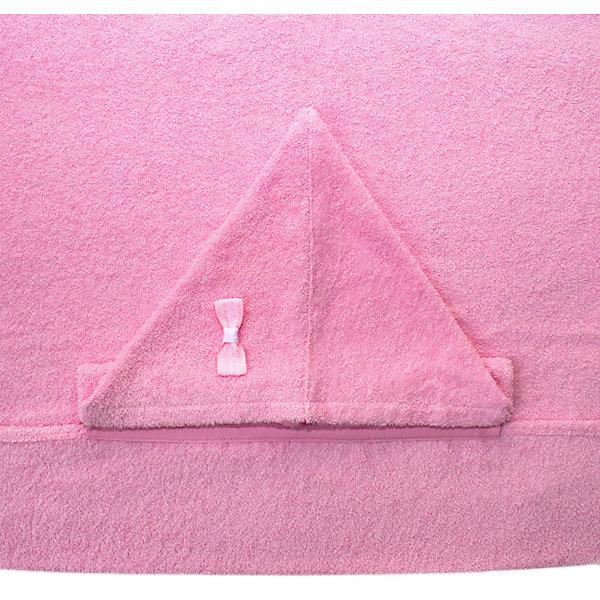 Купить Полотенце с капюшоном BabyBunny, размер М, Россия, блекло-розовый, one size, Женский