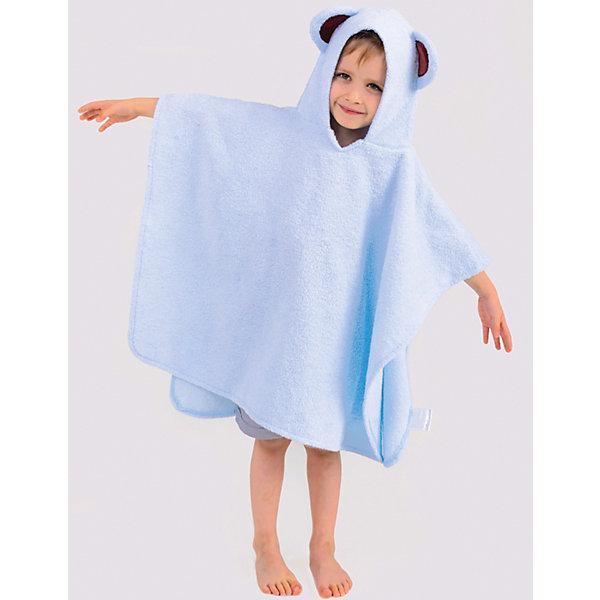 Купить Полотенце с капюшоном BabyBunny, размер L, Россия, голубой, one size, Мужской